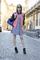 Gianvanito Rossi boots - SANDRO dress - whistles jacket - Mulberry bag