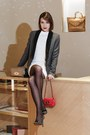Mulberry-dress-mulberry-blazer-mulberry-bag-mulberry-heels