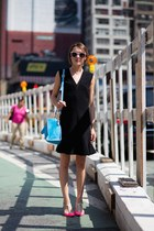 Rebecca Taylor dress - Sophie Hulme bag - Karen Walker sunglasses