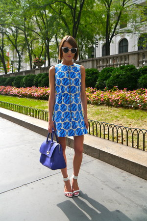 House of Holland dress - Mulberry bag - Aldo sandals