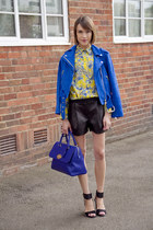Club Monaco jacket - Club Monaco shirt - Mulberry bag - Tibi shorts