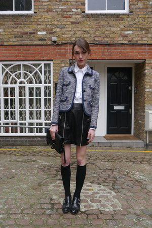 McQ skirt - whistles jacket - Gap shirt - Radley London bag - H&amp;M socks