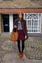 whistles coat - Massimo Dutti boots - Topshop hat - Anya Hindmarch bag