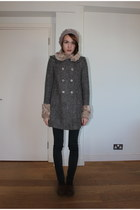 Topshop coat - BDG jeans - Accessorize hat - Russel & Bromley loafers