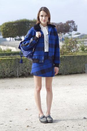 SANDRO jacket - Mulberry bag - Diesel blouse - SANDRO skirt