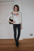 Topshop jumper - Urban Outfitters bag - BDG pants - Russel & Bromley loafers