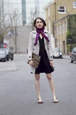 Rebecca Taylor dress - Comptoir des Cotonniers coat - dvf scarf - Hobbs bag