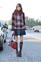 redvalentino jacket - Anya Hindmarch bag - warehouse skirt - Kurt Geiger heels