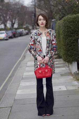 Hudson jeans - Alice  Olivia jacket - paul & joe bag - Kurt Geiger sandals