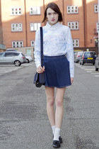 Kenzo sweatshirt - Gap shirt - Kurt Geiger bag - russell & bromley loafers