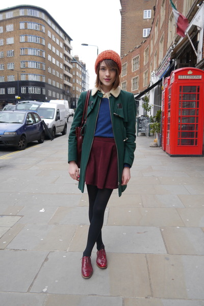Oliver Sweeney shoes - whistles coat - Topshop hat - Radley London bag