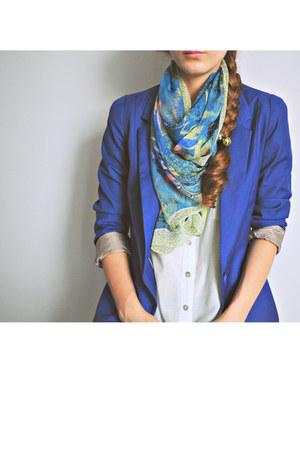 vintage scarf - vintage shoes - Bershka blazer - Forever 21 shirt - asos bag