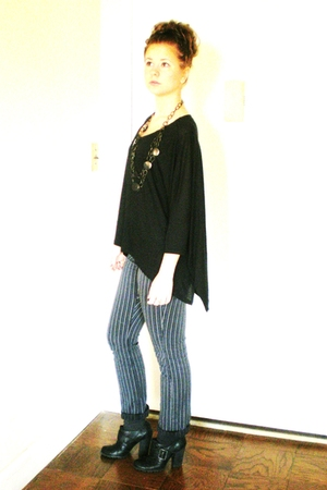 black Express shirt - gray Limited pants - black seychelles shoes - black Laila