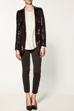 sequined Zara blazer