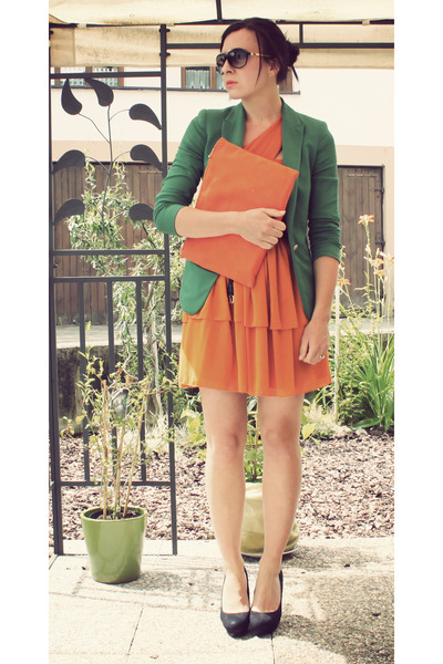 Orange and Green Dresses