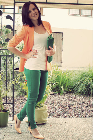 light orange lookbookstorecom blazer - green New Yorker jeans