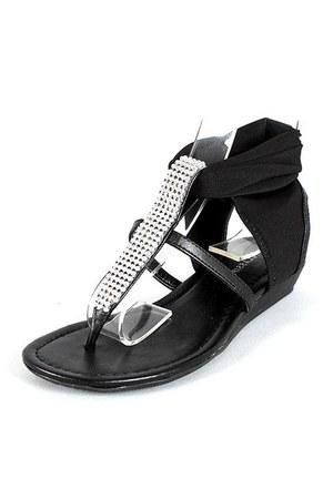black flat sandals sandals