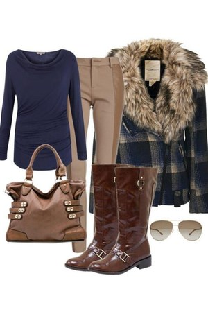 brown bag - dark brown boots