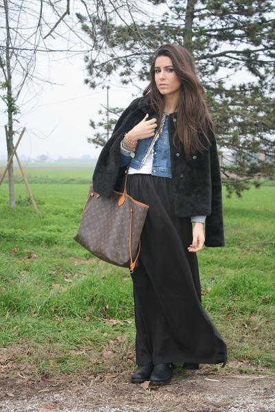 black united colors of benetton jacket - light brown Louis Vuitton bag