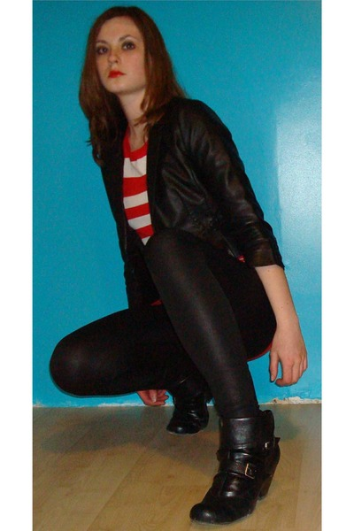 H&M dress - Eclipse tights - American Eagle boots - H&M jacket