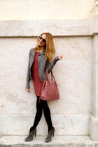 Bershka dress - Barbara Bucci shoes - Patrizia Pepe jacket
