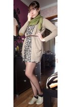 floral Zara dress - neutral Seaside shoes - tan Zara jacket