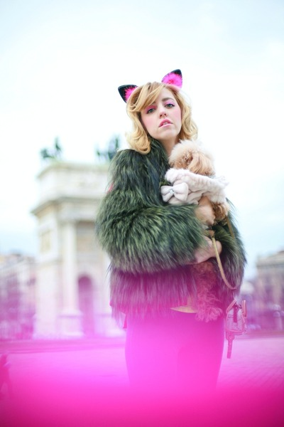 light brown fox fur Carlo Ramello coat