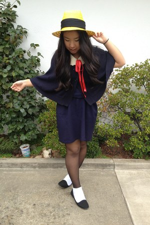thrifted dress - Marshalls cape