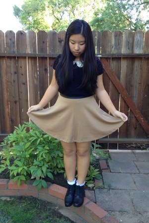 Forever 21 skirt - thrifted shoes - Urban Outfitters top