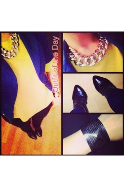f21 necklace - leather booties AmiClubWear boots - black jeans Local store jeans