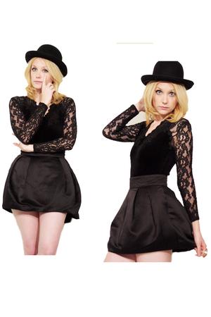 black Modelli Paris top - H&M skirt