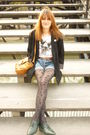 Green-vintage-shoes-gray-h-m-tights-blue-levis-shorts-white-zara-t-shirt-