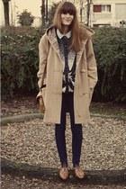 vintage bag - vintage shoes - thrifted coat - vintage cardigan