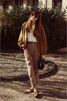 American Apparel blazer - American Apparel pants - vintage Bally loafers