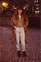 H&M Trend coat - Levis jeans - Topshop boots - Lacoste sweater