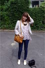 Blue-asos-jeans-white-boots-blue-h-m-top-brown-purse-silver-h-m-jacket