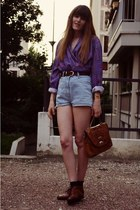 vintage shoes - vintage bag - vintage shorts - vintage top