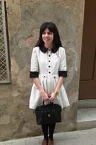 Zara shoes - La Chica de Papel dress - vintage bag
