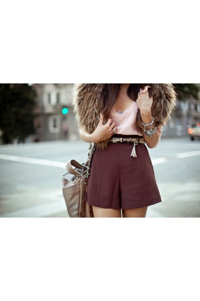 maroon unknown shorts