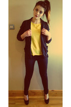 blazer - jeans - blouse - heels
