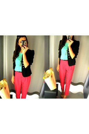 blazer - pants - blouse