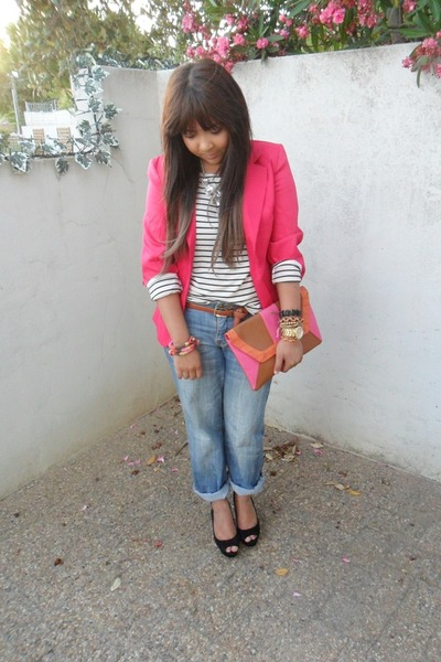 Hot Pink Blazers Black Wedges White Tops Quot Bright Pink