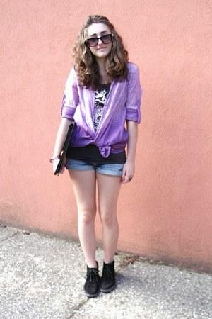 black Jean Pierre shoes - purple fading Ovs Industry shirt
