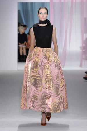 bronze christian dior shoes - light pink flower print christian dior skirt