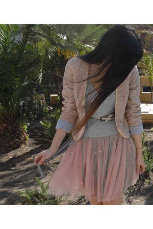 light pink Calliope skirt - light pink imperial jacket