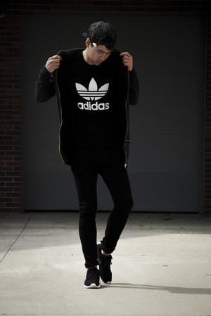 asos hoodie - nike shoes - hm jeans - Zara hat - Adidas shirt