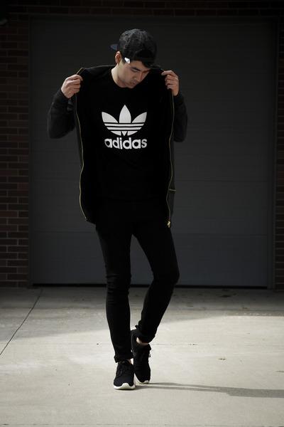 hot sales ad818 94b29 asos hoodie - nike shoes - hm jeans - Zara hat - Adidas shirt