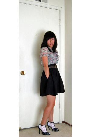 H&M skirt - forever 21 top - vintage from Wasteland belt - Nine West shoes