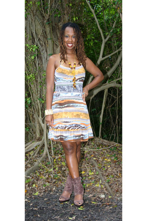 Bakers boots - printed dress Sele dress