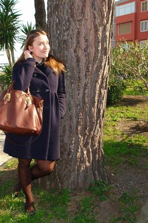 Pinko coat - Prada bag - Fendi flats